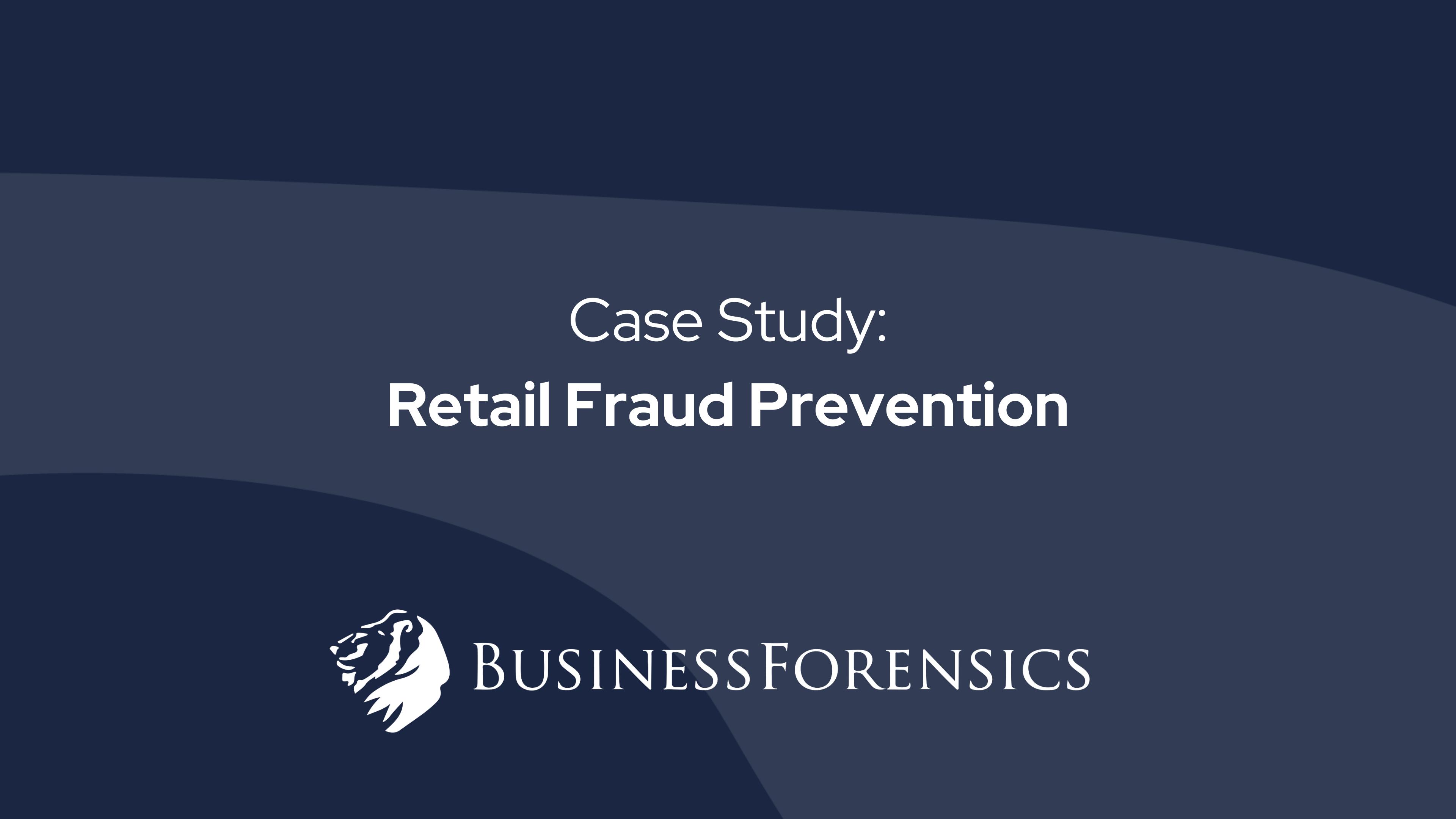 Einzelhandels-Betrugs-Fallstudie
